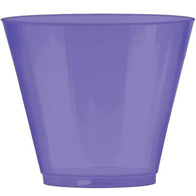 Amscan Big Party Pack Plastic Cups, 9oz, Purple, 2/Pack, 72 Per Pack (350366.106)