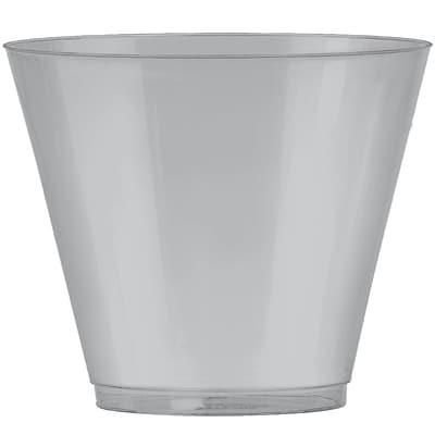 Amscan 9oz Silver Big Party Pack Plastic Cups, 2/Pack, 72 Per Pack (350366.18)