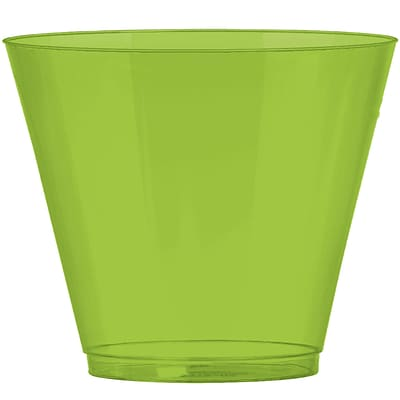 Amscan 9oz Kiwi Big Party Pack Plastic Cups, 2/Pack, 72 Per Pack (350366.53)