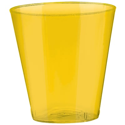 Amscan 2oz Yellow Sunshine Big Party Pack Plastic Shot Glasses; 3/Pack, 100 Per Pack (357918.09)