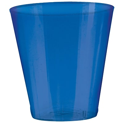 Amscan 2oz Bright Royal Blue Big Party Pack Plastic Shot Glasses; 3/Pack, 100 Per Pack (357918.105)
