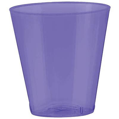 Amscan 2oz Purple Big Party Pack Plastic Shot Glasses; 3/Pack, 100 Per Pack (357918.106)