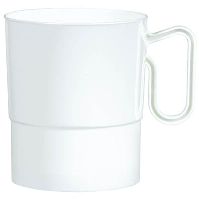 Amscan 8oz White Plastic Coffee Cups, 2/Pack, 20 Per Pack (359630.08)