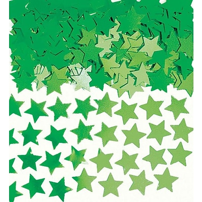 Amscan Mini Stars Confetti; .25oz, Green, 24/Pack