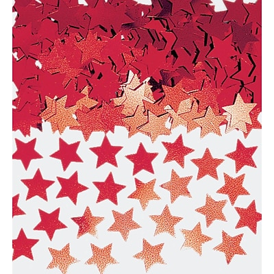 Amscan Mini Stars Confetti; 0.25oz, Red, 24/Pack (369146.07)