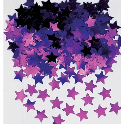 Amscan Mini Stars Confetti; .25oz, Purple, 24/Pack