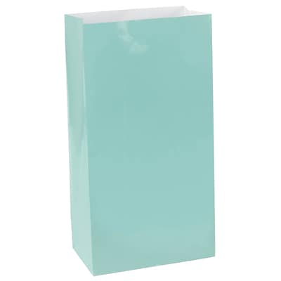 Amscan Paper Bags, 10H x 5.25W x 3D, Robins Egg Blue, 9/Pack (376000.121)
