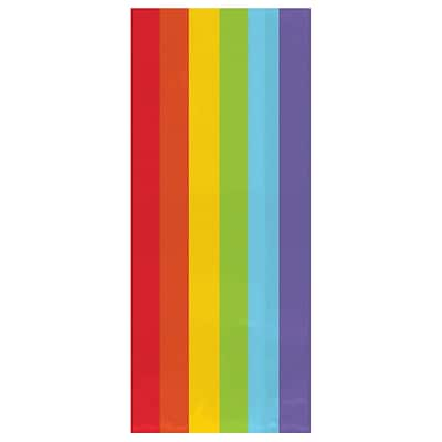 Amscan Cello Party Bags, 9.5H x 4W x 2.25D, Rainbow, 12/Pack