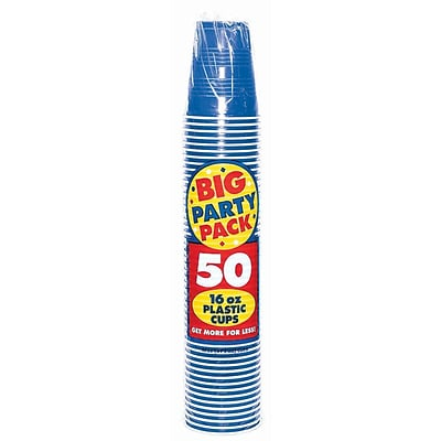 Amscan 16oz Royal Blue Big Party Pack Cup, 5/Pack, 50 Per Pack (436801.105)