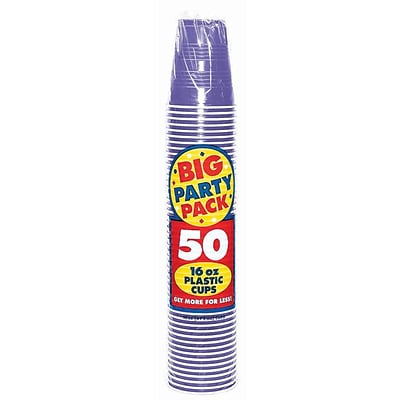 Amscan 16oz Purple Big Party Pack Cup, 5/Pack, 50 Per Pack (436801.106)