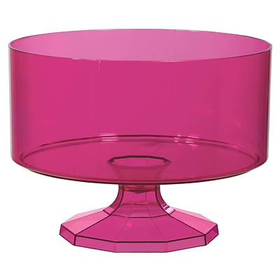 Amscan Trifle Container, Small, Bright Pink, 9/Pack (437841.103)