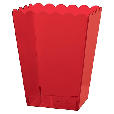 Amscan Medium Scalloped Container, 6H x 3W x 4D, Red, 12/Pack (437896.4)