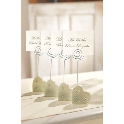 Amscan Heart Place Card Holders; 4.25, 12/Pack (451024)
