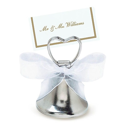 Amscan Silver Bell Place Card Holder; 24/Pack (451027)