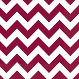 Amscan Chevron Beverage Napkins, 5 x 5, Berry, 8/Pack, 16 Per Pack (501492.27)