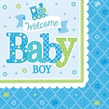 Amscan Baby Shower Boy Lunch Napkins 8pk