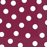 Amscan Polka Dots Lunch Napkins Berry