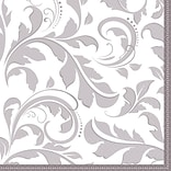 Scroll Anniversary Lunch Napkins Silver