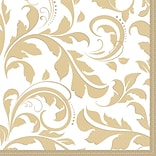 50th Anniversary Scroll Gold Lunch Napkins