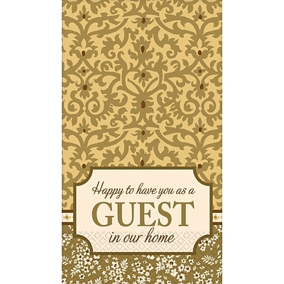 Amscan Welcome Guests Guest Towels, 7.75 x 4.5, 4/Pack, 16 Per Pack (530029)