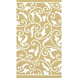 Amscan Scroll Guest Towels 7.75x4.5 Gold