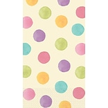 Amscan Watercolor Polka Dot Guest Towels, 7.75 x 4.5, 4/Pack, 16 Per Pack (539511)