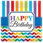 Amscan Bright Birthday 7'' x 7'' Square Paper Plates; 8/Pack, 8 Per Pack (541465)