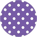 Amscan Polka Dots Round Paper Plates, 9, New Purple, 8/Pack, 8 Per Pack (551537.106)