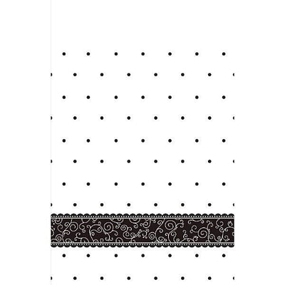 Amscan 102 x 54 Black and White Wedding Tablecover (571091)