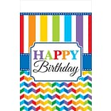 Amscan Birthday Tablecover; 102x54 4pk