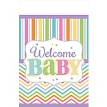 Amscan Welcome Baby Tablecover; 102 x 54
