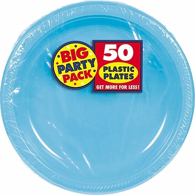 Amscan Big Party Pack 7 Caribbean Round Plastic Plates, 3/Pack, 50 Per Pack (630730.54)