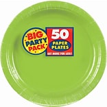 Amscan 9 Kiwi Big Party Pack Round Paper Plates, 5/Pack, 50 Per Pack (650013.53)
