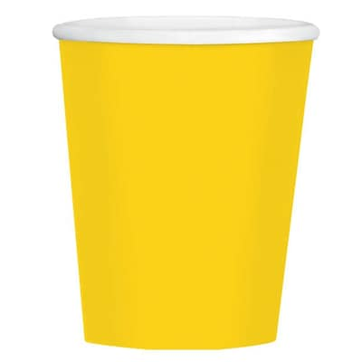 Amscan 12oz Yellow Paper Coffee Cup, 4/Pack, 40 Per Pack (689100.09)