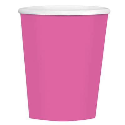 Amscan 12oz Bright Pink Paper Coffee Cup, 4/Pack, 40 Per Pack (689100.103)