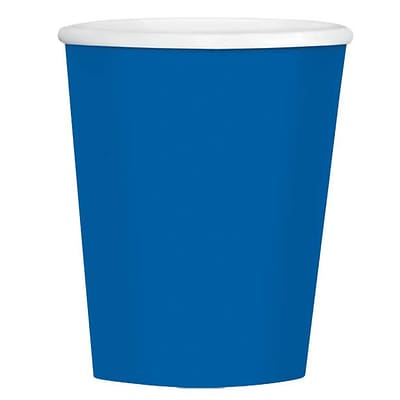 Amscan 12oz Royal Blue Paper Coffee Cup, 4/Pack, 40 Per Pack (689100.105)