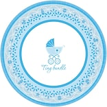7 Celebrate Baby Boy Baby Paper Plate
