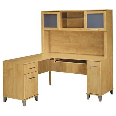 Bush Furniture Somerset 60w L Shaped Desk With Hutch