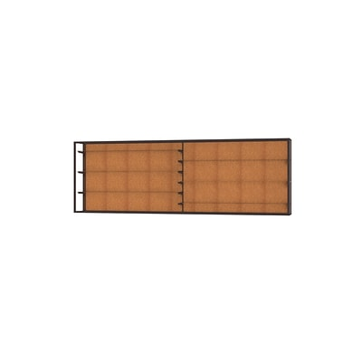 Waddell Champion 144W x 48H x 16D Wall Case, Cork Back, Dk. Bronze Finish