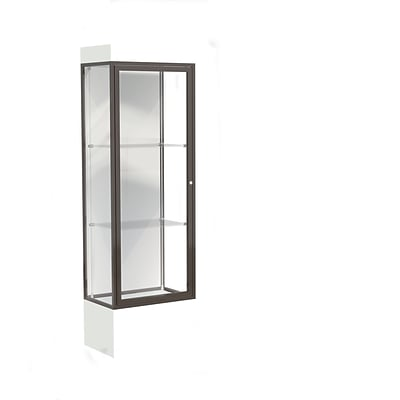 Waddell Edge 24x76x20 Lighted Floor Case, 12 base, White Back, Dk. Bronze Fin, Frosty White Base