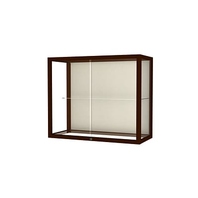 Waddell Heirloom 36W x 30H x 14D Wall or Top Case, Plaque Back, Cordovan Finish