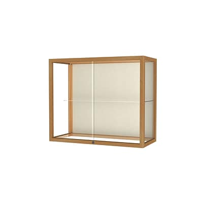 Waddell Heirloom 36W x 30H x 14D Wall or Top Case, Plaque Back, Honey Maple Finish