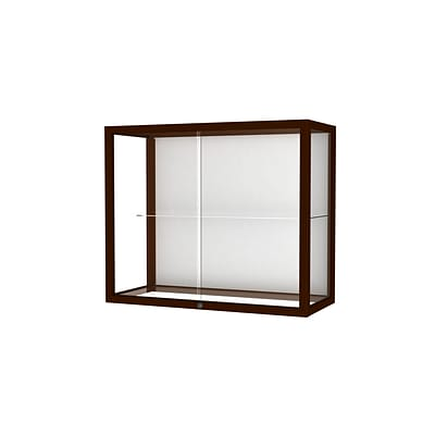 Waddell Heirloom 36W x 30H x 14D Wall or Top Case, White Back, Cordovan Finish