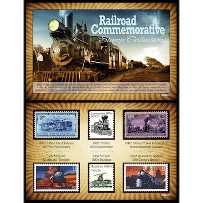 American Coin Treasure Railroad Commemorative Stamp Memorabilia