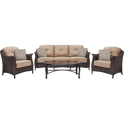 Hanover Outdoor Furniture Gramercy 4-Piece Wicker Patio Seating Set (GRAMERCY4PC)