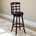 CorLiving Woodgrove 29 Bar Stool with Cushion