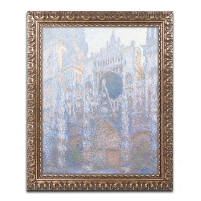 Trademark Global Monet Rouen Cathedral West Facade 1894 Ornate Art, 16x20 Framed (BL01404G1620F)