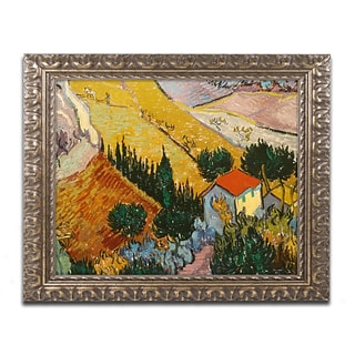 van Gogh Landscape with House 16x20 Frame