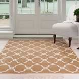 Lavish Home Lattice Area Rug - Dark Beige & Ivory - 33x5 (62-7656GC-335)