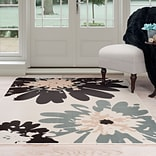 Lavish Home Flower Area Rug 8x10 - Blue & Ivory (62-243I-810)